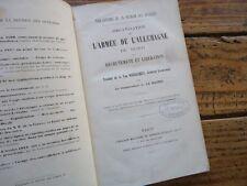ORGANISATION DE L' ARMEE DE L' ALLEMAGNE DU NORD RECRUTEMENT LIBERATION 1872