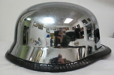 NOVELTY CHROME MIRROR GERMAN DECORATIVE/COLLECTIBLE MOTORCYCLE HALF HELMET