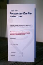 Remember-I'm-Me Pocket Care Chart for hospital visits with dementia
