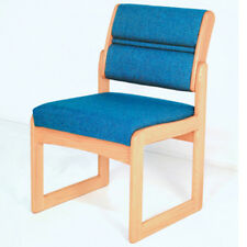 Wooden Mallet Valley Armless Guest Chair-Light Oak- DW2-1LOPB Chair NEW
