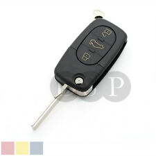 Flip Remote Key Shell fit for Audi A2 A3 A4 A6 A8 TT Uncut Fob Case 3 Button
