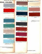 1961 CHRYSLER IMPERIAL NEWPORT WINDSOR NEW YORKER 300F 61 PAINT CHIPS DUPONT 3
