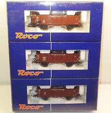Roco H0 45951 Güterwagenset 3 teilig - offene Wagen der DB
