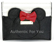 NEW Disney Kate Spade Minnie Mouse Red Bow Card Case Holder Wallet HTF