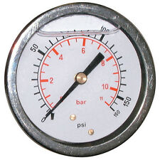 Pressure Gauge Glycerine 63mm G1/4bspp 0 - 400Bar/6000psi Rear