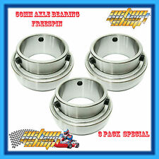 "GO KART "" 50MM AXLE BEARING STANDARD "" (3) THREE RACE BEARING PACK SB208-50/ZZC4"