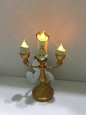 """Disney Parks LUMIERE  Beauty & the Beast LIGHT-UP Candlestick Ornament 5"""" inches"""