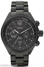 Fossil Men's Black Flight Stainless Steel Watch CH2803