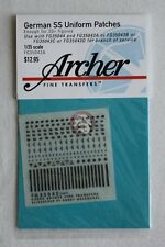 Archer 1/35 German SS Uniform Patches and Cuff Titles WWII (20 figures) FG35042A