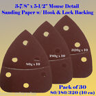 30X Mouse Detail Sander Sandpaper Hook and Loop 180 Grit For Black & Decker Palm