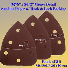 30X Mouse Detail Sander Sandpaper Hook and Loop 180 Grit For Black & Decker Palm