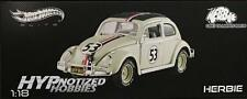 HOTWHEELS ELITE 1:18 HERBIE THE LOVE BUG GOES TO MONTE VOLKSWAGEN BEETLE  BLY22