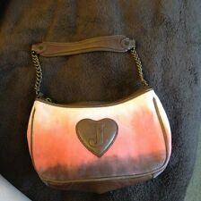 RARE!! Juicy Couture Handbag Leather And Velour Dip Dye: Pink, Brown, Purple