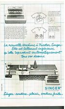 Publicité Advertising 1979 La machine à tricoter Singer
