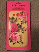 NIP Betsey Johnson Yellow And Pink Roses Phone Case Cover ~  Samsung Galaxy S3