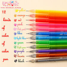 0.5mm Rollerball Gel Pens Fine Point 12-Pack Assorted Colors Free shipping