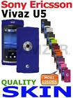 Amzer Soft Silicone Skin Jelly Case Back Gel Cover For Sony Ericsson Vivaz U5
