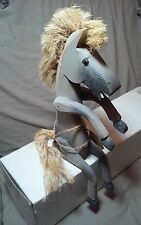 """WHIMISCAL FOLKART """"PALLET PONY"""" By MICHAEL A. GURTHRIE """"86"""" w/glass bead eyes"""
