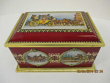 Klann Quality Container Hinged Lid Tin Box Western Germany Collectible