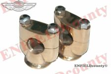 "NEW CUSTOM MADE BRASS 7/8"" HANDLEBAR RISERS UNITS FOR MANY MOTORCYCLE @ ECspares"