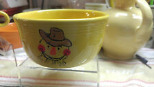 "Fiesta HALLOWEEN GUSTO BOWL 28 oz. 5 1/2"" x 3"" SUNFLOWER Retired ""SCARECROW"""