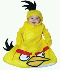 Angry Birds NEW Adorable Yellow Bird Infant Costume fits size 0-9 months