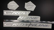 "CROWNLINE boat Emblem 20"" Epoxy Stickers Resistant to mechanical shocks Vinyl"