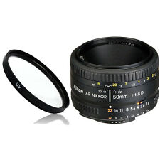 NEW Nikkor Nikon 50mm f/1.8 D lens 50 f1.8D + Multicoated UV Filter