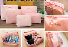 5pc Waterproof Packing Cube Travel Luggage Organizer Clothes Storage Bags Pink
