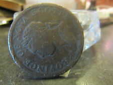 ancienne piece monnaie coin one penny token 1832 province  nova scotia canada  8