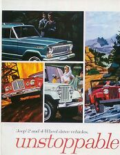 Jeep Wagoneer Gladiator Panel Delivery Universal c. 1965 Original USA Brochure