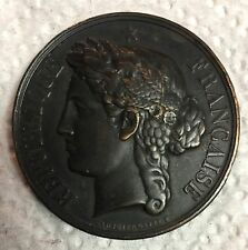 1887 Republic France Pas-De-Callas Prize Bronze French AWARD MEDAL Sgd V. GALLE