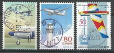 ˳˳ ҉ ˳˳PM-1 Japan Commemorative SON Postmark Planes Recent set used Japon 日本