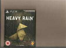 HEAVY RAIN LIMITED EDITION RAIN EMBOSSED COVER PLAYSTATION 3 PS 3