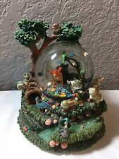 """Disney's Bambi """"Little April Showers"""" Musical Snow Globe with Motion Retired"""