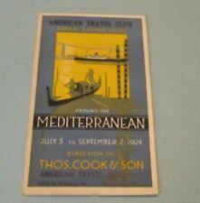 1924 American Travel Club Mediterranian Cruise Ship Thomas Cook & Son Brochure