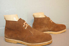 6.5 M NOS MENS BROWN SUEDE VTG 70s JOUSTERS LEATHER FLEECE LINED NEW BOOTS Shoe