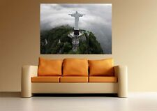 A0 STATUE OF JESUS RIO BRAZIL  LARGE IMAGE GIANT POSTER PRINT