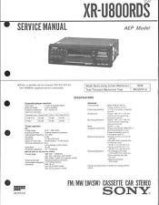 Sony Original Service Manual für CAR XR-U 800 RDS
