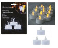 3PC FLICKERING TEA LIGHT CANDLES Flameless Candles LED Tealights Battery Powered