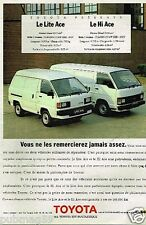 Publicité advertising 1989 Toyota Lite Ace et Hi Ace