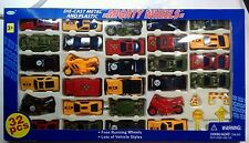 32 Diecast Car set Ages 3+  Cars, Motorcycles, First Responders  Camo   New