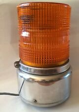 Amber Emergency Fire Truck Beacon Light Vintage Chrome Large
