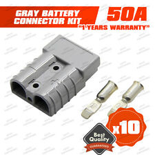 ANDERSON PLUG 50 AMP - BATTERY CONNECTOR - JUMP START - SLAVE ASSIST - X10 GREY