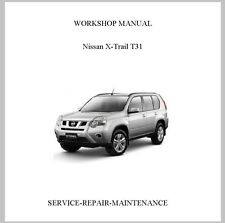NEW PROFESSIONAL NISSAN XTRAIL X-TRAIL T31 SERVICE REPAIR MANUAL
