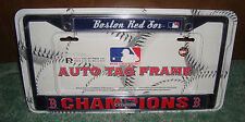 BOSTON RED SOX AUTO TAG FRAME + BRAND NEW + 2013 WORLD SERIES CHAMPIONS MLB MIP