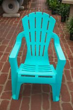 Outdoor Garden Patio Furniture Plastic Adirondack Deck Chair Italia Aqua Blue