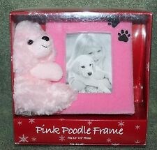Nice Pink Poodle Picture Frame New Old Stock
