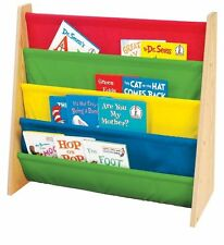 Sorbus Toddler Bookshelf - Bright Primary Colors Pockets Bookcase