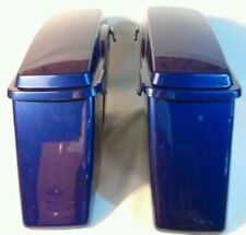 Harley HD Touring Cobalt Blue Hard Saddle bags Saddlebags Road King Glide DYNA